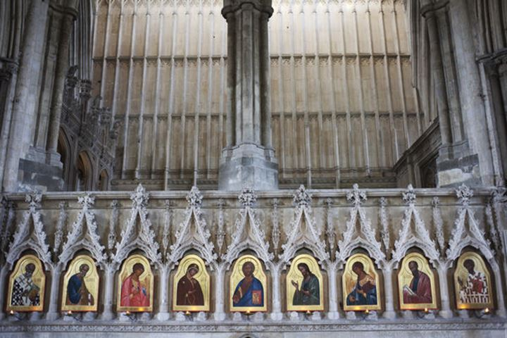 England, Hampshire, Winchester, Winchester Cathedral, 20th century  Icons by Sergei Fyodorov