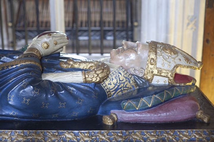 England, Hampshire, Winchester, Winchester Cathedral, Tomb Effigy of William of Waynflete Bishop of Winchester