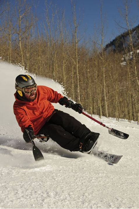 James Church skiing in Crested Butte, CO.