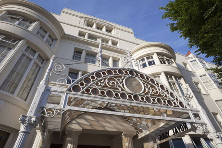 England, Sussex, Brighton, Victorian Era Hotel Architecture