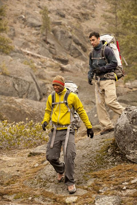 Will Sorrell and Danny Hemachandra hiking in the Central Cascades, Mt. Baker-Snoqualmie National Forest, Washinton.