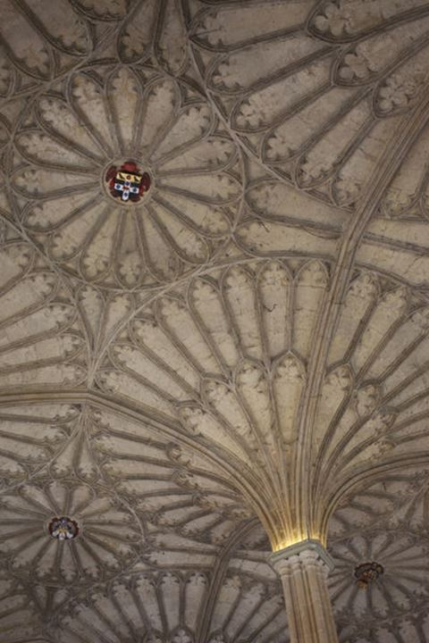 England, Oxfordshire, Oxford, Christ Church College Cathedral, The Cloister Ceiling