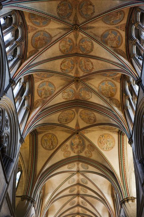England, Wiltshire, Salisbury Cathedral, The Quire Roof