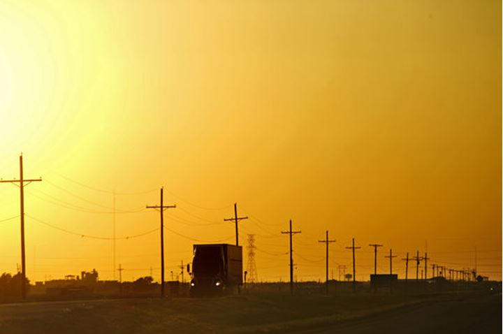 Trucking in the Texas Panhandle.