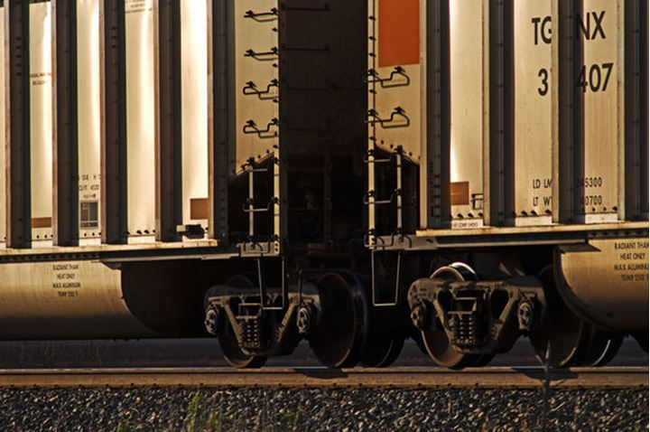 Trains in the Texas Panhandle.