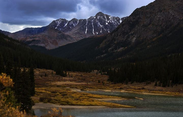 Fall Season at Grizzly Reservoir on CO RD 23 east of Aspen in Central Colorado.