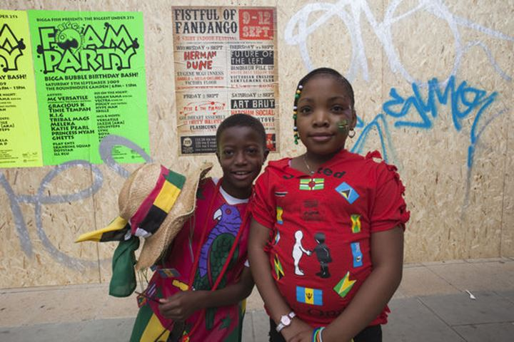 England, London, Notting Hill Carnival, Young Festival Participants