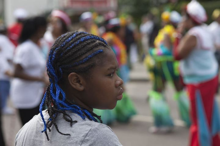 England, London, Notting Hill Carnival, Cornrow Hairstyle