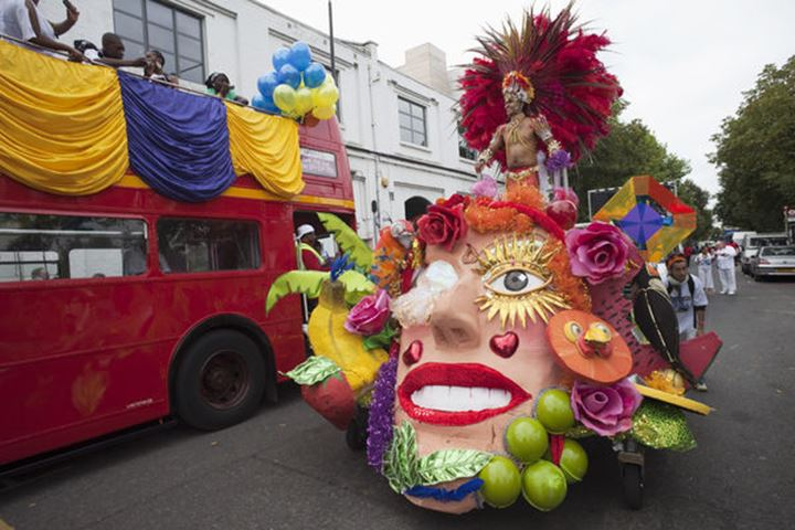 England, London, Float in Notting Hill Carnival