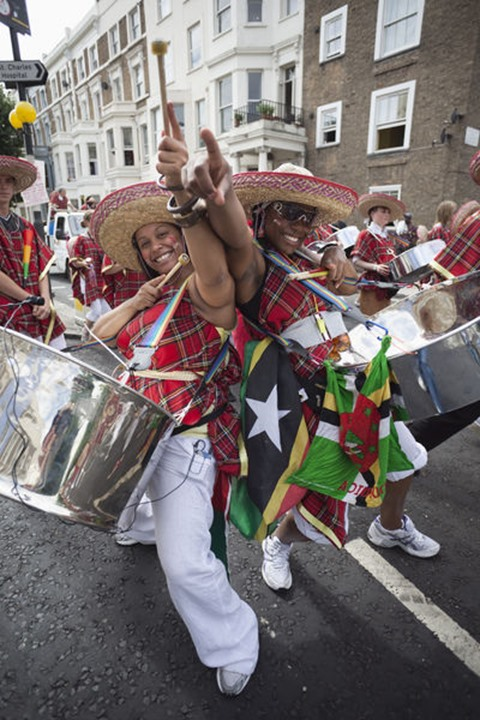 England, London, Notting Hill Carnival, Steel Drum Players
