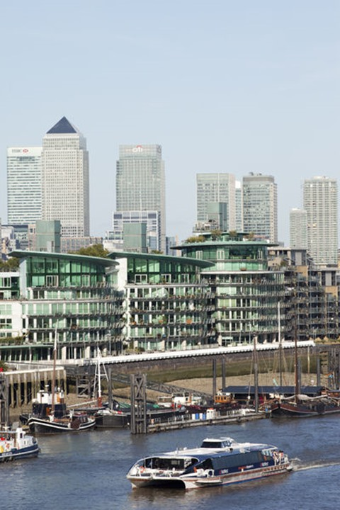England, London, Docklands and River Thames