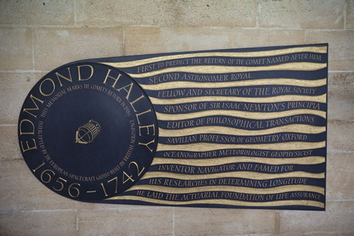 England, London, Westminster Abbey, The Cloisters, Edmond Halley Memorial Plaque
