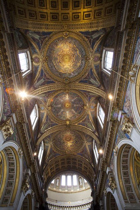 England, London, St Paul's Cathedral, Mosaic Ceiling of the Quire
