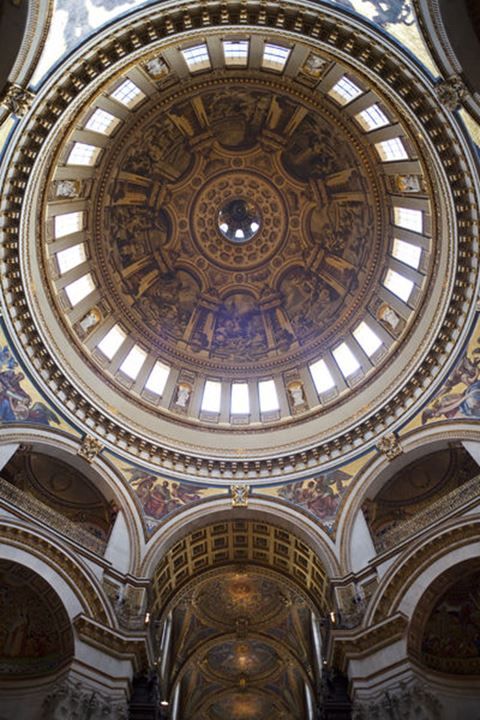 England, London, St Paul's Cathedral, The Dome and Transepts