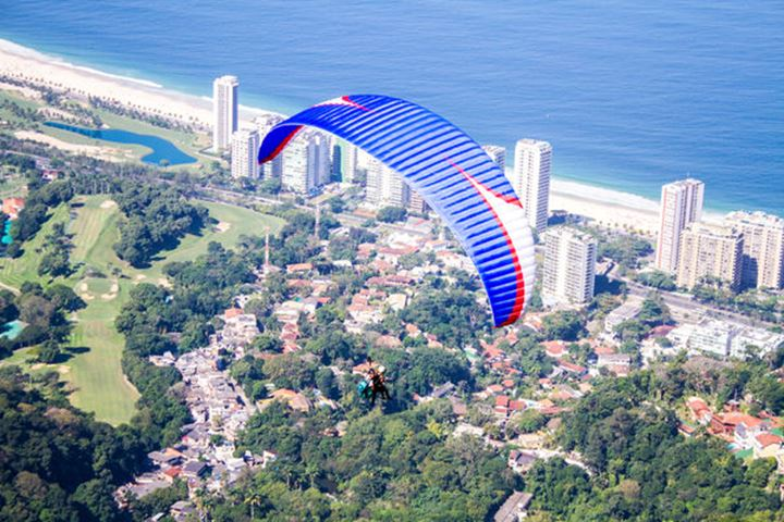 Paraglider from above
