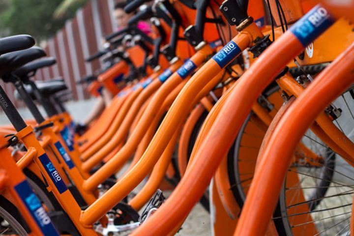 Orange bikes in Rio
