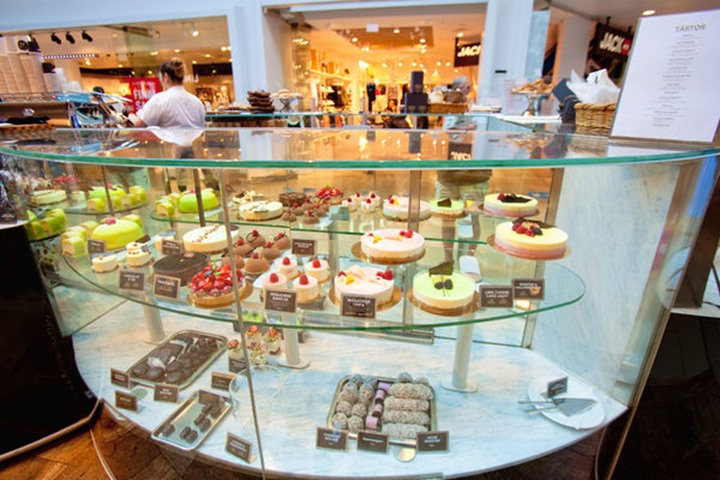 Sweden, Stockholm -  Typical Swedish Cakes and Sweets in Gallerian Mall