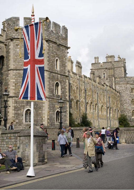 Windsor castle in England, no model/property release