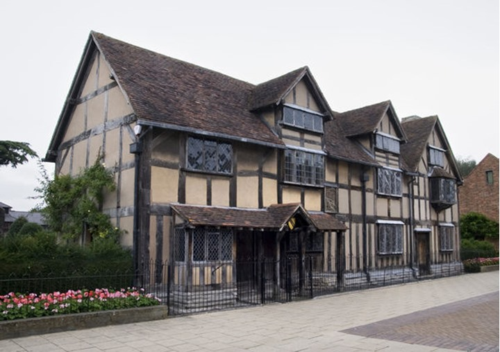 The house that William Shakespeare was born in, Stratford upon Avon in England, no property release