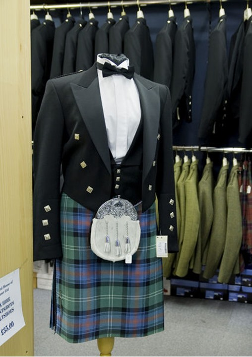 A Scottish formal wear in a store, Scotland (Skottland) no property release