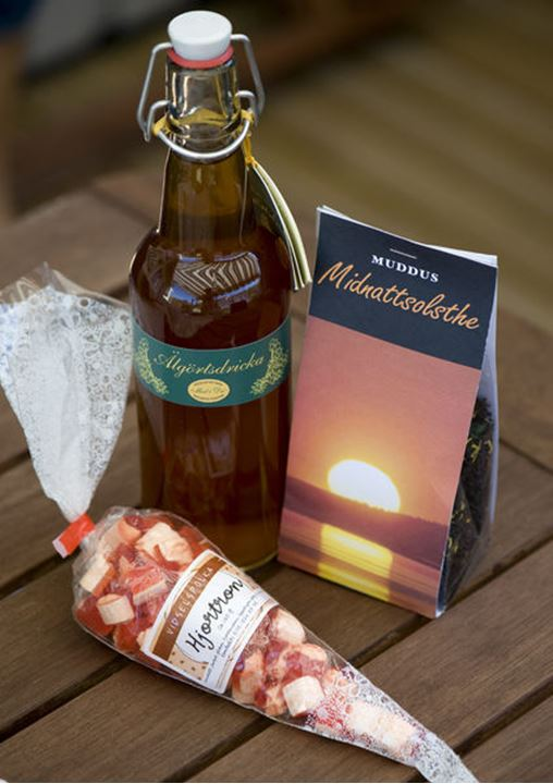 Food souvenirs from northern of Sweden