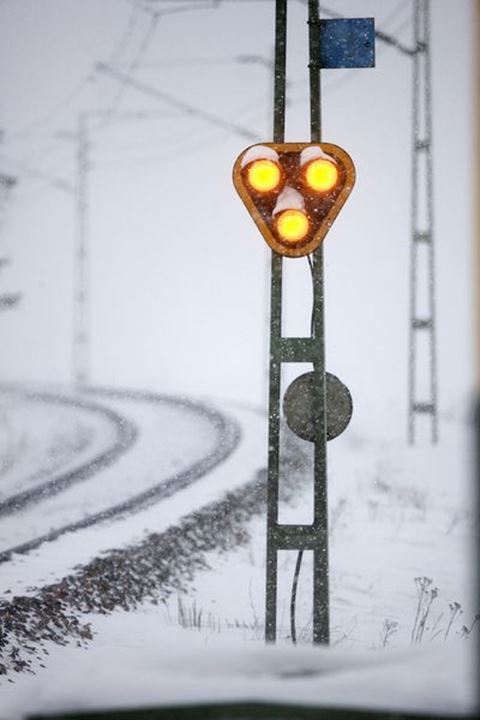 Signal at railway