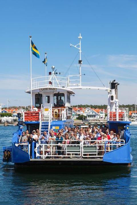 The passenger ferry to Marstrand on the Swedish west coast