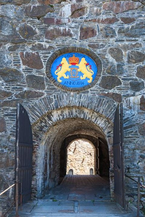 Entrance to the the Carlsten Fortress at Marstrand, Sweden