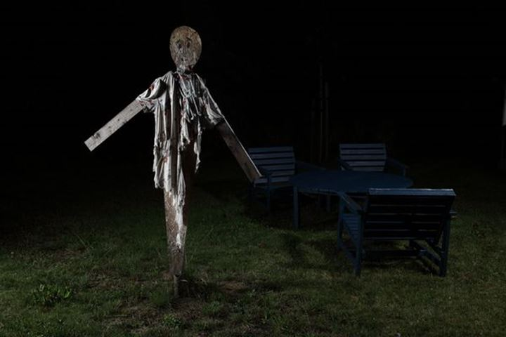 Scarecrow during night, Sweden.