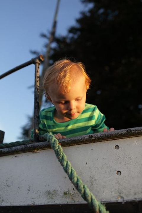 Baby boy playing, Sweden.