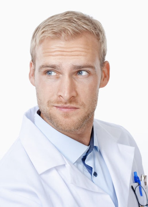 Portrait of a Young Doctor with Blond Hair