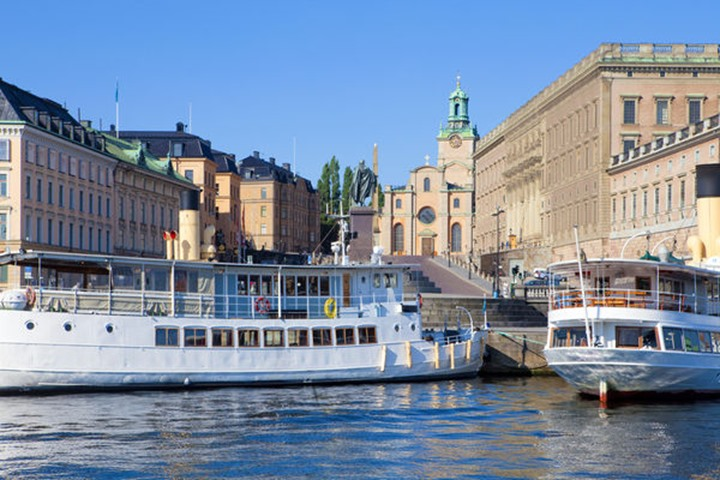 Sweden, Stockholm - The Old Town and Royal Castle.