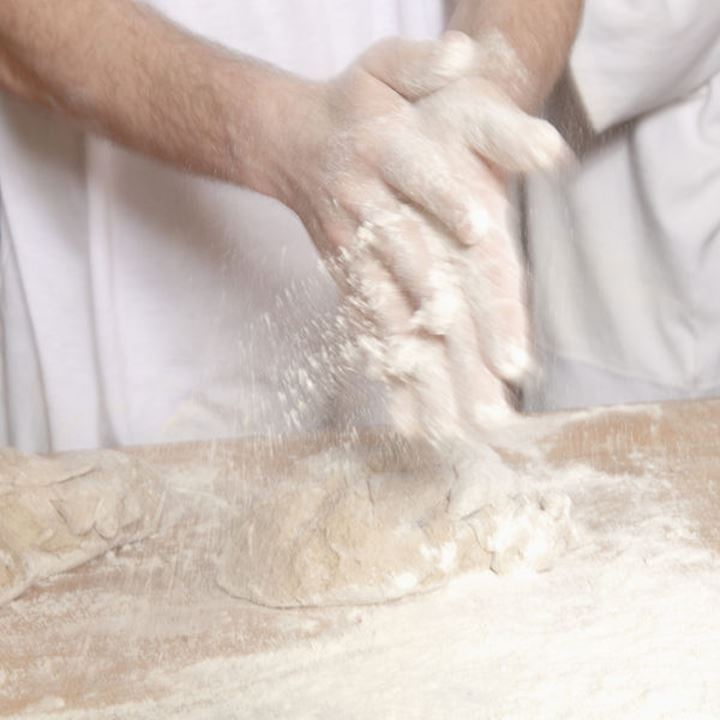 Professional Bakery - Baker Working with Dough.