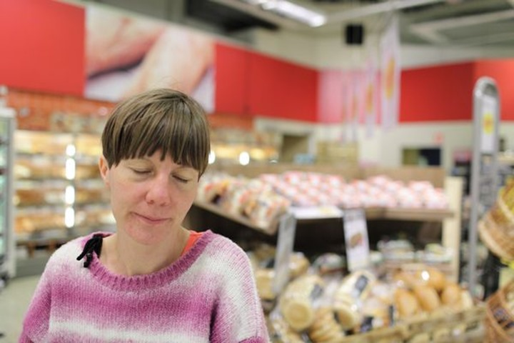 Women in a grocery store, Sweden.