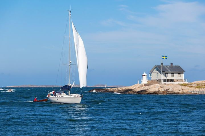 Sailboats at Marstrand on the west coast of Sweden