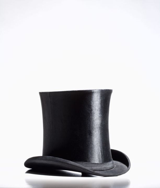 Black Top Hat - Isolated on White