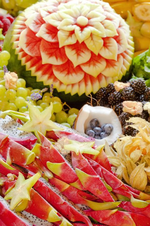 assortment of different fruits at a party