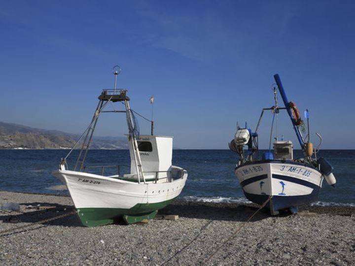 Fishingboats  Nerja Andalucia Spain