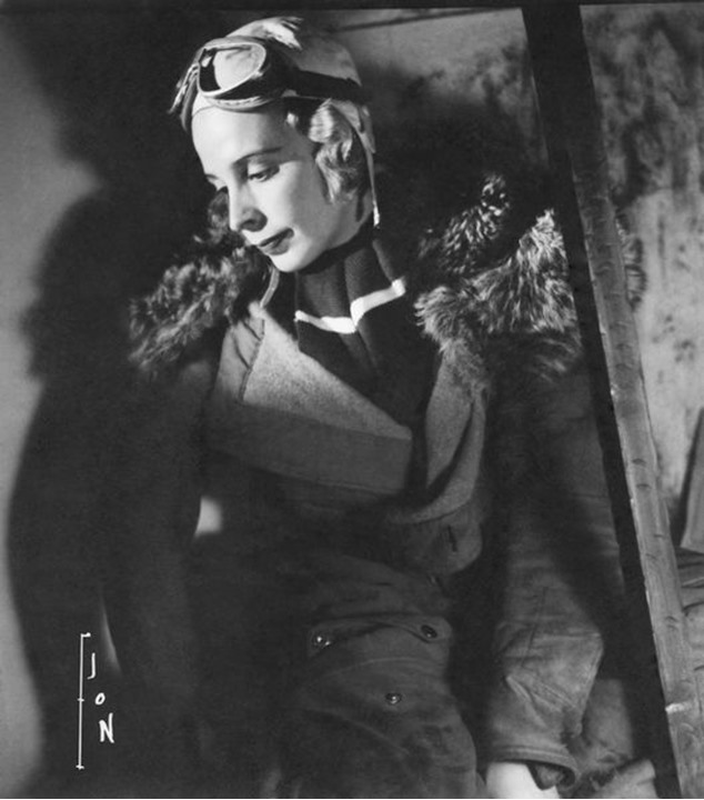 Eva Dickson, Swedish explorer, rally driver and author, in 1936.