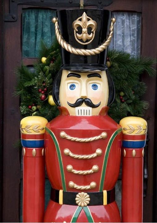 A toy soldier standing in a doorstep, England