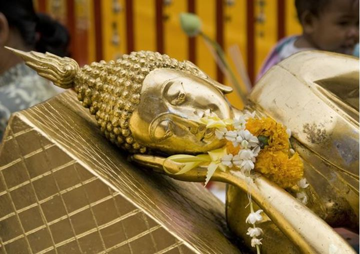 A statue of Buddha, Wat Phra That Doi Suthep temple, Ciang Mai, northern Thailand