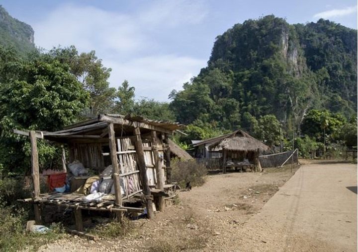 Some cottages in the countryside of northern Thailand