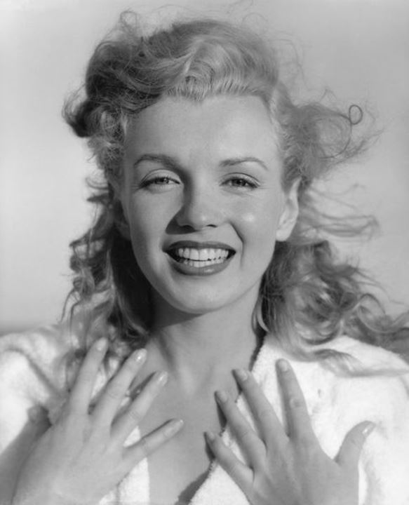 Marilyn Monroe in 1950, age 24, at the threshold of her movie career.