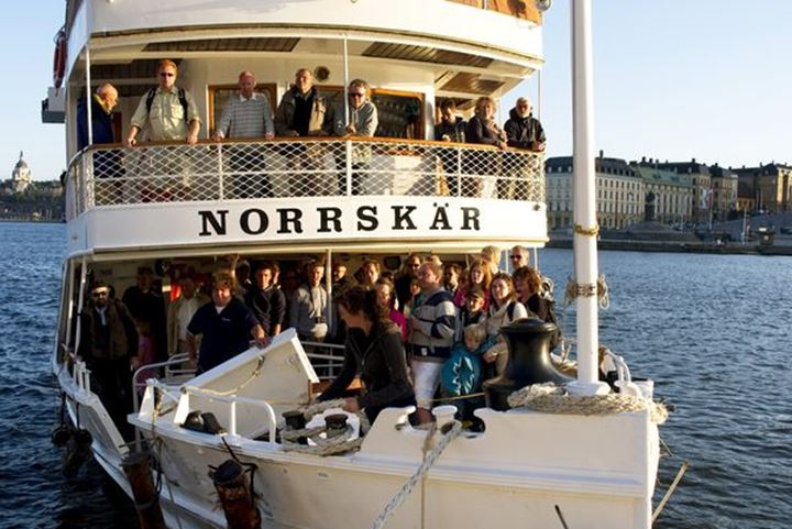 Boat, cruise on the archipelago in Stockholm
