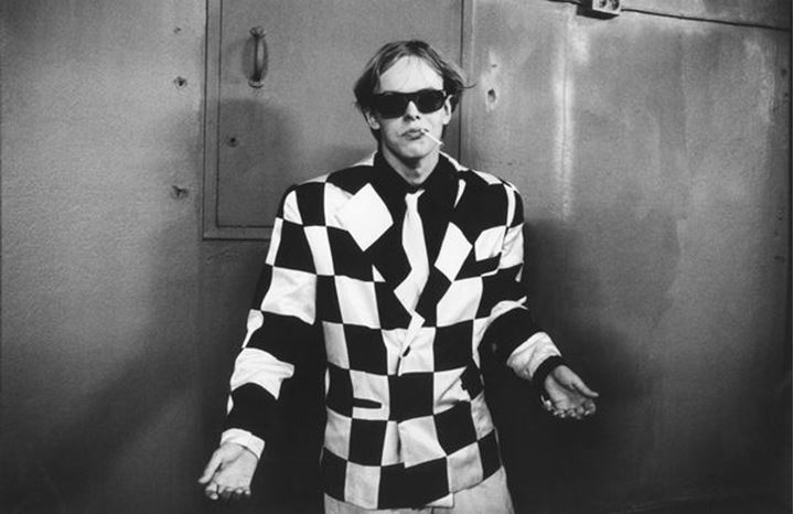 Young man in checkered suit. Stockholm. Sweden 1988