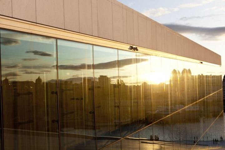Sunset at the Opera house, Oslo, Norway