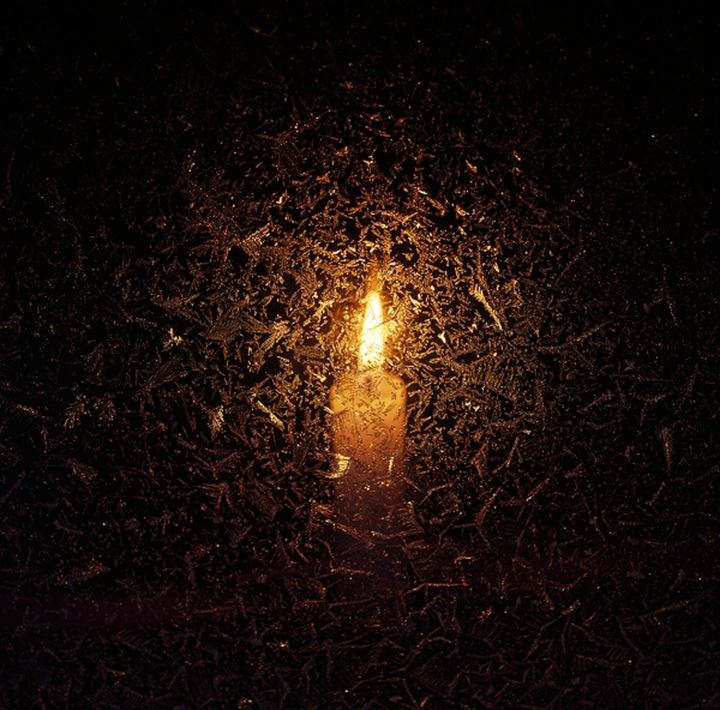 Close-up of a burning candle