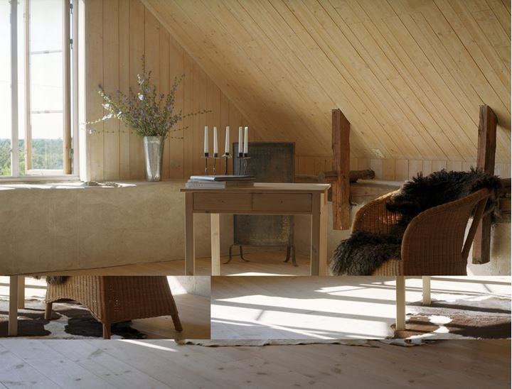 Room in an attic, Gotland, Sweden