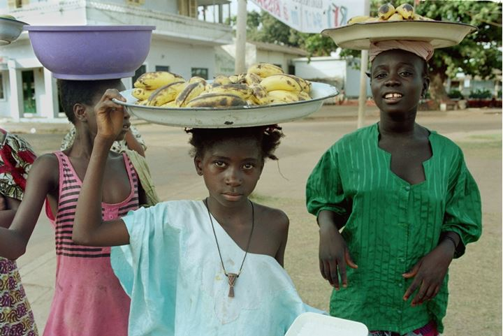 Girl selling in the streets of Bissau 1994