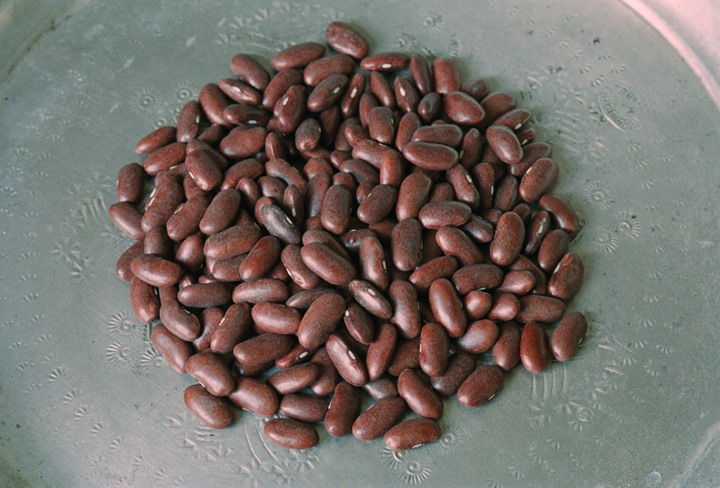 Red beans on a plate